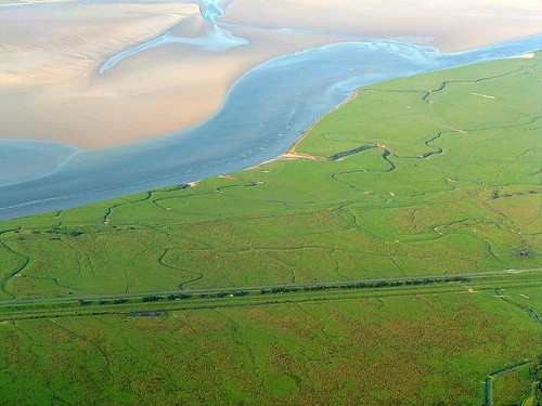 The Solway Firth and the possible location of Milecastle 74
