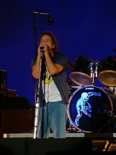 Eddie Vedder, de Pearl Jam, en directo.