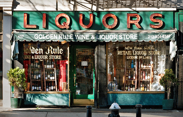 Golden Rule Wine & Liquor Store (1934), 457 Hudson Street, Greenwich Village, New York, New York