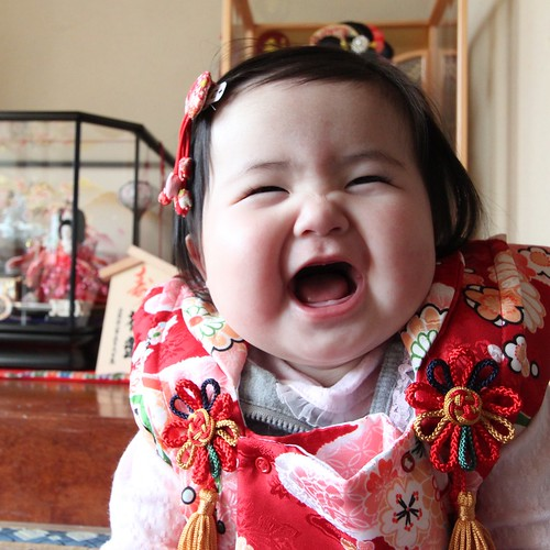 Japanese Baby Girl celebrating Hina Matsuri (Girls' Day)