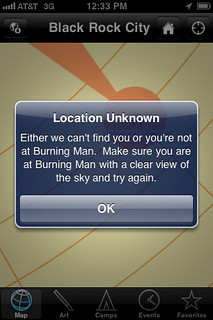 Make sure you are at Burning Man...