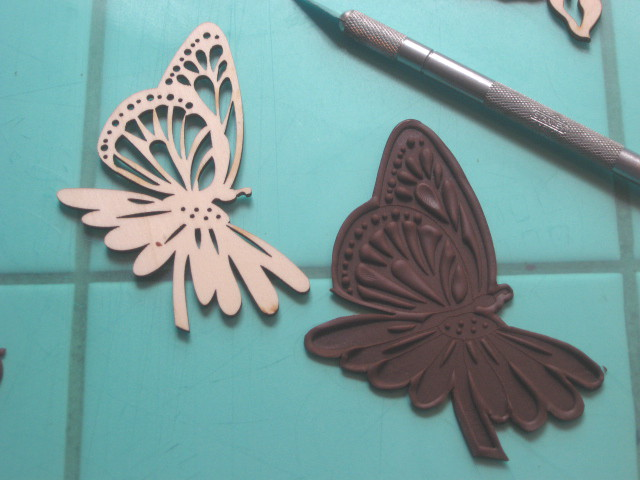 Modeling Chocolate Butterfly This little wood cut was ...