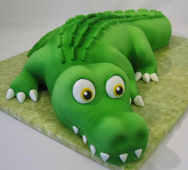 Easy Crocodile Cakes