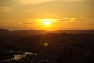 Sunset over Valetta, Malta