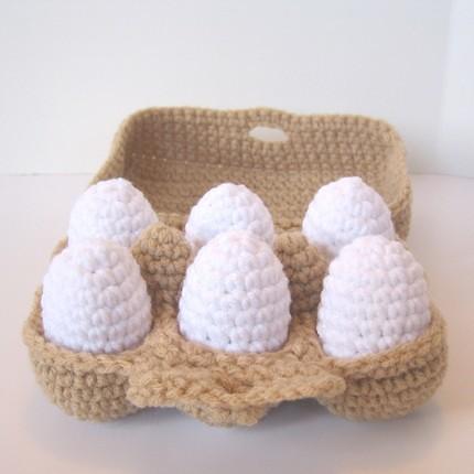Half Dozen Crocheted Eggs Part Of My Grocery Shopping
