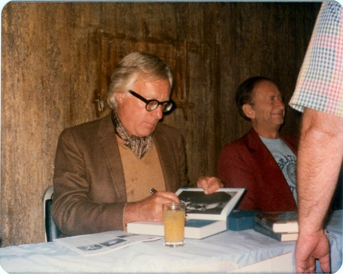 06 World Fantasy Con III 1977 Ray Bradbury Signing Next to Robert Bloch