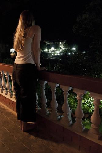 nepal girl night dark view balcony nighttime human libby 365 gorkha 365days 3653 strikeday villagelights gurkhainn gettyvacation2010