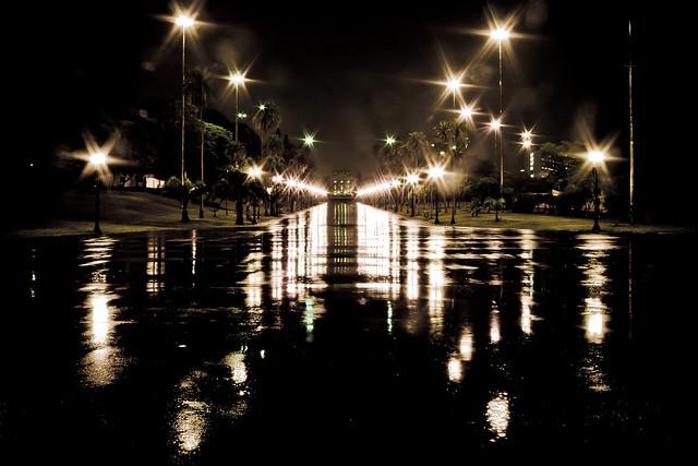 a cold rainy night in São Paulo