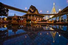 Saphan Bhumibol at Dusk - Bangkok