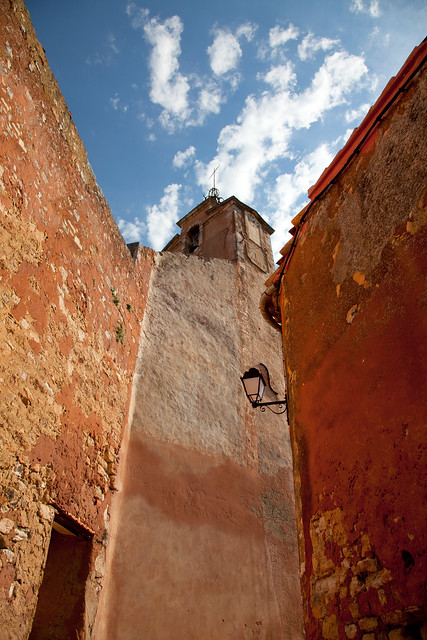 Ochre walls in Roussillon, Provence, France