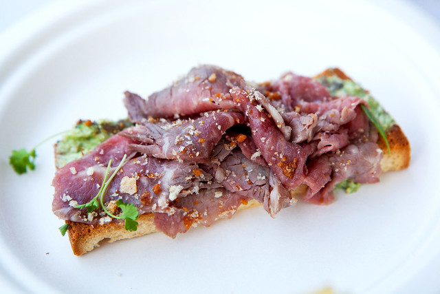Pulino's:  Beef cooked in beef fat, anchovy crostone, parsley and fried garlic