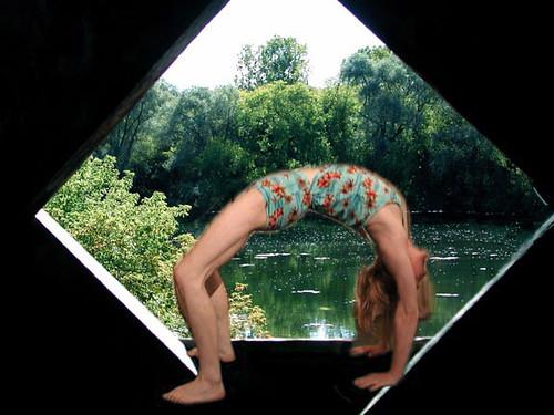 Bridge  Pose under the Bridge