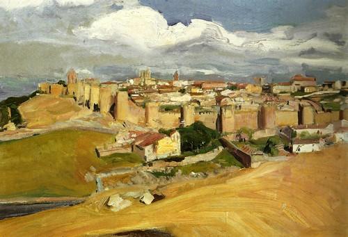"""""""Vista de Ávila"""".  Joaquín Sorolla."""
