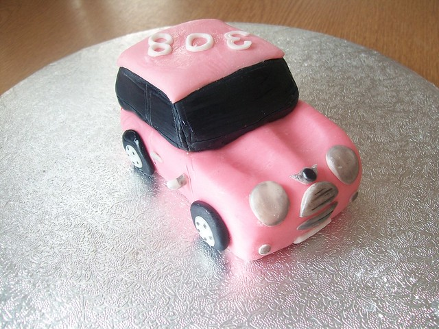 mini cooper wedding cake topper fondant mini cooper car cake topper cakeebakey flickr 17393