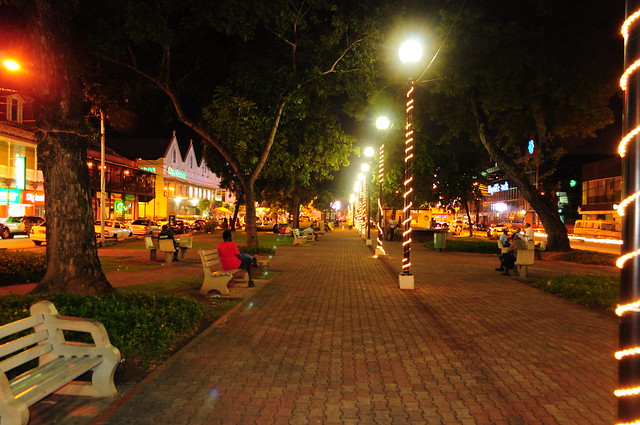 Brian Lara Promenade in Port of Spain, Trinidad and Tobago
