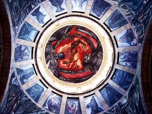El hombre en llamas flickr photo sharing for El hombre de fuego mural de jose clemente orozco