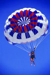 sailing(0.0), toy(0.0), symmetry(1.0), parachute(1.0), sports(1.0), parasailing(1.0), parachuting(1.0), windsports(1.0), extreme sport(1.0), water sport(1.0), blue(1.0),