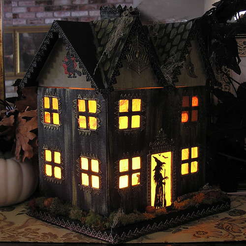 Paper Mache Haunted House -