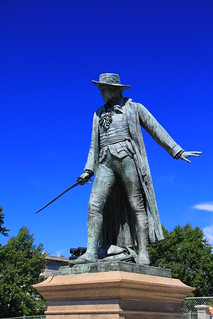 Image of Colonel William Prescott. boston massachusetts charlestown bunkerhillmonument breedshill