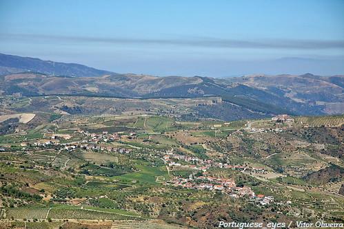 Vilarouco e Vidigal vistas do Miradouro da Senhora do Viso - Portugal
