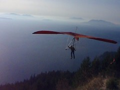 Hang gliding from Blanchard Mountain