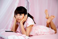 undergarment(0.0), lingerie(0.0), gravure idol(0.0), toy(0.0), black hair(1.0), model(1.0), clothing(1.0), skin(1.0), japanese idol(1.0), limb(1.0), leg(1.0), photo shoot(1.0), long hair(1.0), pink(1.0), beauty(1.0), adult(1.0),
