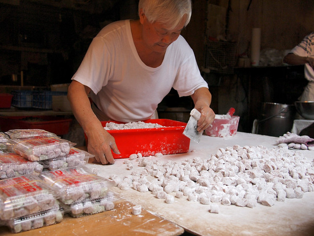 Taro Ball Making