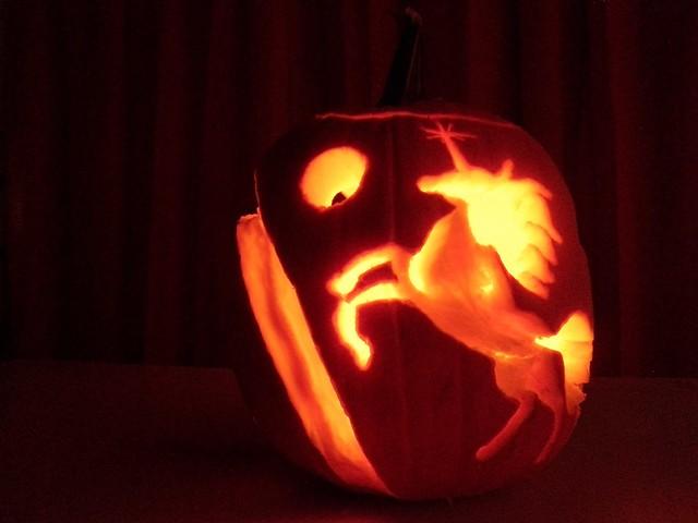 Unicorn Pumpkin Carving Unicorn Double Rainbow Pumpkin