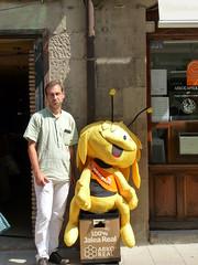 Avec l'Abeille. Sanguësa (Navarre), 18 août 2010.