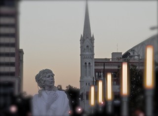 Ghostly statue