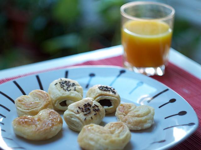 Desayunando...