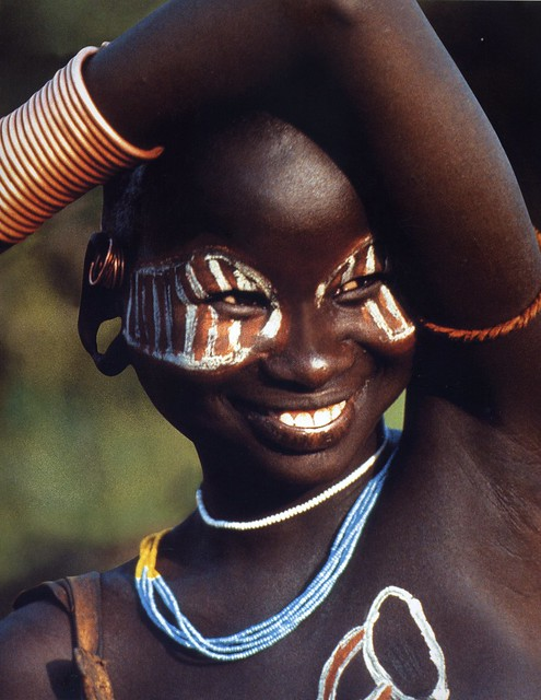Surma Girl From Ethiopia With Painted Eye Mask  Flickr -8509