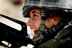 [フリー画像素材] 戦争, 兵士, 女性兵士, イスラエル国防軍 ID:201111220600