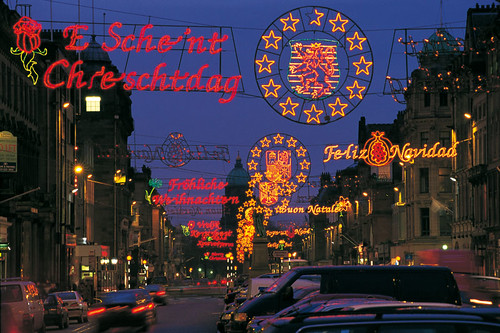 George Street Edinburgh Christmas lights 1998
