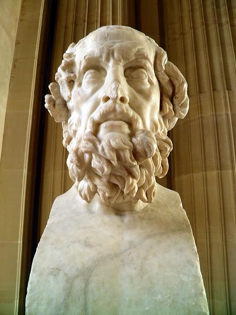 Homer bust, Louvre Museum
