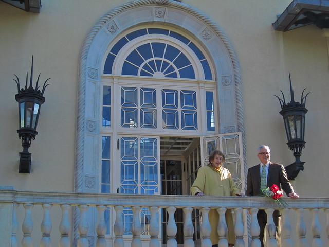 Elizabeth Scholtz, Director Emeritus and Scot Medbury, Garden President. Photo by Rebecca Bullene.