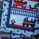 Train Quilt Front