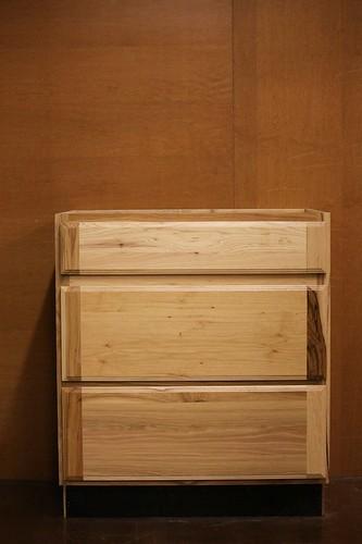Kraftmaid Kitchen Hickory 3 Drawers Base Cabinet 30 Ebay