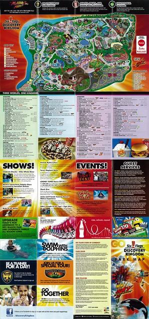 Six Flags Discovery Kingdom Map 2003