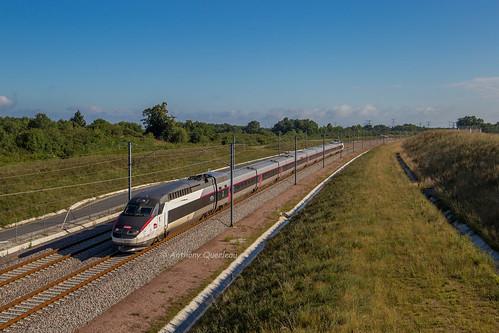 02 juillet 2017 TGV R 508 Train 814715 Poste 16 Dangeau -> Bordeaux Aubie-et-Espessas (33)
