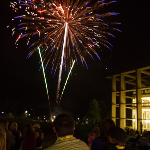 With 4th of July celebrations upon us, there's no better time to share this photo of fireworks on the lawn, a Valpo favorite! #4thofJuly