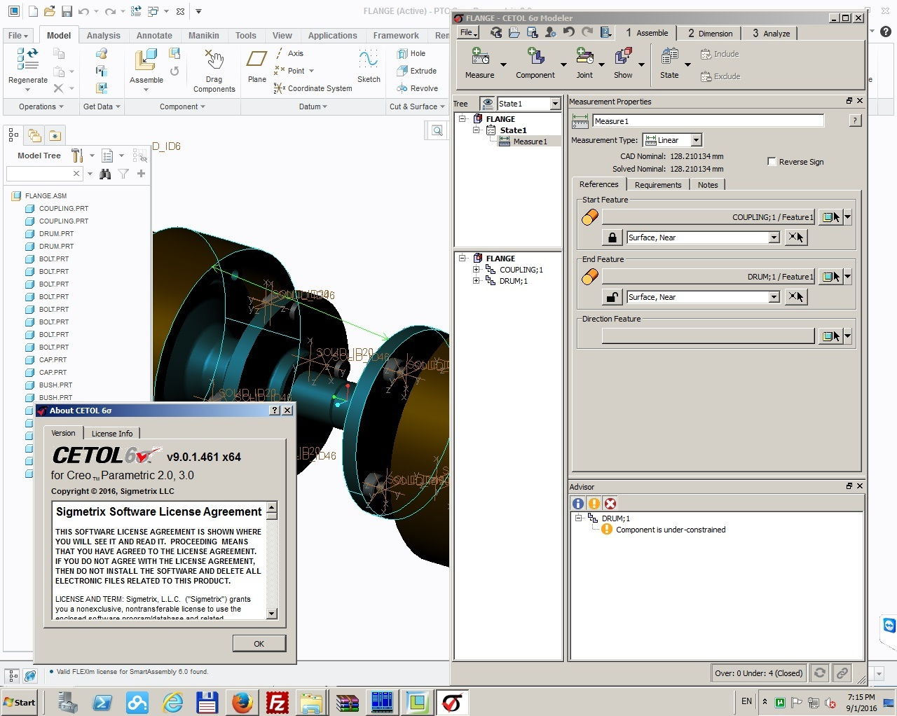 Working with Sigmetrix Cetol 6 v9.0.1 for PTC Creo 2.0-3.0 64bit full crack