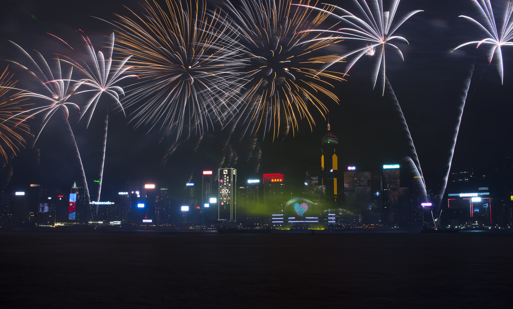 七月一號,香港煙花匯演