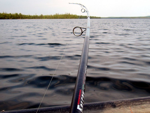 Fishing on Kalunkijärvi, Käylä near Ruka