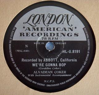 Alvadean Coker- We're Gonna Bop (UK London 78)
