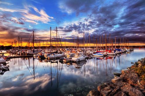 blue sunset orange canada reflection harbor victoria sailboats hdr popeye