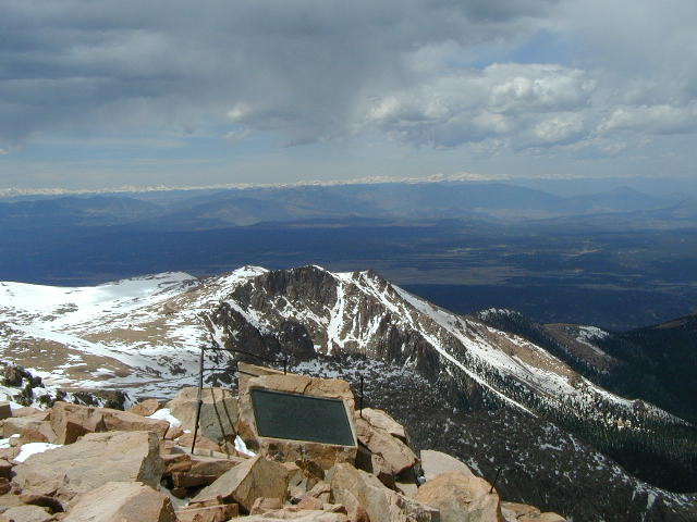 Spectacular view from the summit of Pikes Peak - a photo ...
