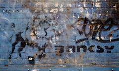 Manchester Graffiti: Banksy & Pahnl Sticker