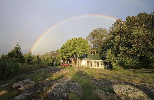 sunset cloud house storm rain rainbow cottage roozbehrokni