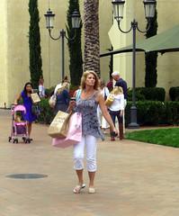 Woman Still Life: Fashion Island, Newport Beach CA